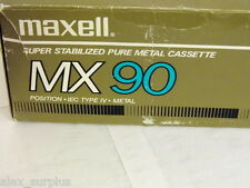 Maxel MX90 Type IV Metal Bias Audio Cassette Tape New Factory Seal