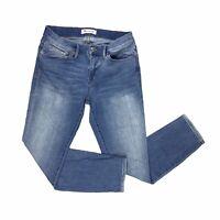 Madewell Jeans Women Sz 28 Denim Pants Light Wash Slim Leg Ankle Whiskering