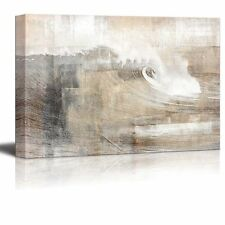 Abstract Canvas Art - Huge Wave Composition - Modern Wall Decor - 24x36 inches