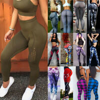 Women High Waist Yoga Pants Fitness Leggings Gym Stretch Sport Seamless Trousers