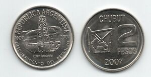 ARGENTINA 2007 2 Pesos  Oil Discovery in Chubut KM 144 UNC