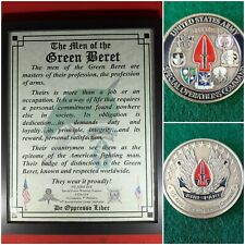 Mc-Nice: Socom Coin & Personalized Special Forces Men of the Green Beret