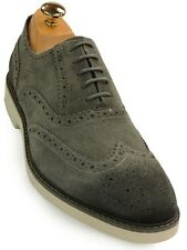 Kenneth Cole Reaction Mens Grey Wing Tip Casual Lace Up Oxford Trending Shoe
