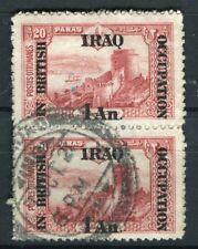 IRAQ; 1918 BRITISH OCCUPATION issue fine used 1a. pair + good POSTMARK