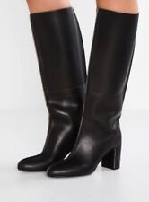 Jil Sander Navy Women's Boots Black Leather Size 41(US11)!