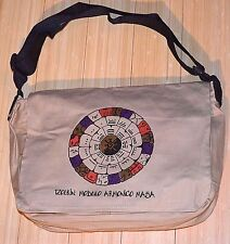 Handmade South American Messenger Bag Inside Pockets Mayan Calendar Design, Peru