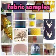 Fabric Samples for any of the Lampshades in my ebay Shop