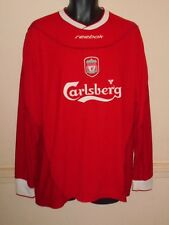 Liverpool Home Shirt 2002-2004 Long Sleeves New Without Tags large men's #1169