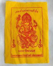 Pha Yant Ganesha Hindu God Successful Fortune Rich Thai Amulet Fetish Talisman