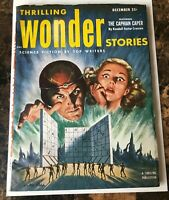 THRILLING WONDER STORIES  PULP DEC 1952 GOLDEN AGE of SCIENCE FICTION