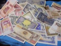 Lot of 40 uncirculated World Banknotes, all diff....,one 1961,one 1964(Lot B).