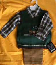 NWT by Mark Jason 3 pieces outfit baby boy 18m