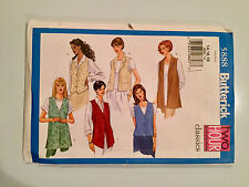 BUTTERICK NEW Pattern # 5888 2-Hour Fast & Easy Vest & Cover Tops Sz 14, 16, 18