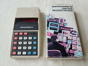 Vintage COMMODORE 897D Calculator Boxed - Red LED Display Excellent
