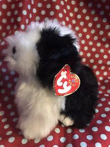 TY Poofie Sheep Dog Beanie Baby Plush, 2001, Beanbag Stuffed Animal Damages