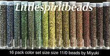 Miyuki picasso seed beads. 16 pack color set.