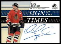 2019-20 UD SP Authentic Sign of the Times Auto #SOTT-GR Dirk Graham