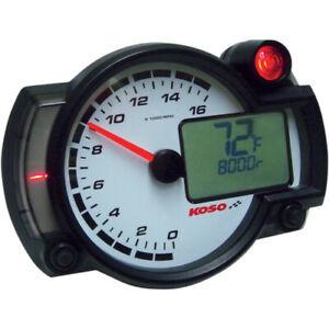 KOSO RX2-NR GP Style 16,000 RPM Race Tachometer (Black)