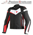Giubbotto tessuto Dainese Veloster Tex Nero Bianco Rosso moto jacket