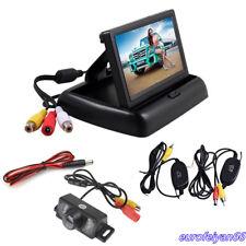 """4.3"""" LCD HD écran De Moniteur sans fil plaque d'immatriculation caméra de vision arrière vision nocturne"""
