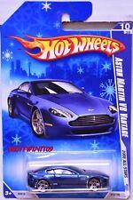 HOT WHEELS 2008 ALL STARS ASTON MARTIN V8 VANTAGE #10/36 BLUE SNOW CARD W+