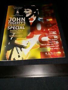 John Fogerty Premonition Rare Original Radio Promo Poster Ad Framed!