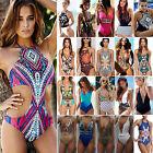 Donna Pezzo Unico push up imbottito costume intero spiaggia da bagno bikini
