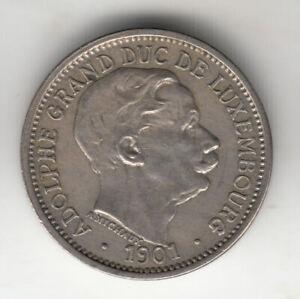 LUXEMBURG 10 CENTS 1901 DUKE ADOLPHE             BY COINMOUNTAIN