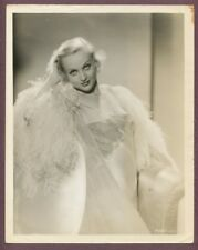 CAROLE LOMBARD Risque Revealing Negligee White Woman 1933 Sexy Glamour Photo
