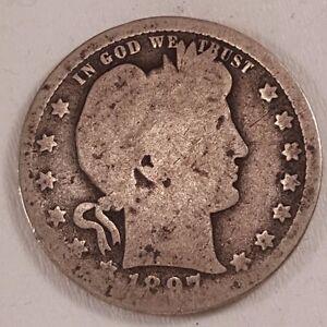 1897-O Key Date 25c Barber Quarter, G/AG, Good / Almost Good