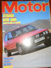 Motor 9/6/84 BMW Alpina C1, Fiat Strada Abarth 130TC