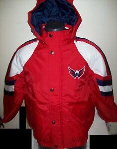 WASHINGTON CAPITALS STARTER PRO LINE Hooded Parka Jacket  S, M, L XL 2X
