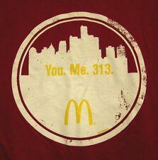 McDONALD's tee XL restaurant hamburgers Detroit T shirt fast food 313 Michigan