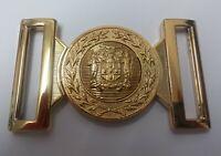 Genuine Jamaica Defence Force JDF Issue Belt Buckle Locket With Insignia MFB21