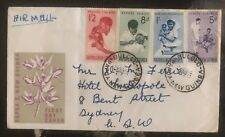 1954 Bulolo Papua New Guinea First Day Airmail Cover FDC To Sydney Australia