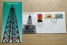 1985 Malaysia Petronas Petroleum Oil & Gas Production 3v Stamp FDC (JB postmark)