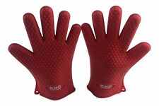 Silicone BBQ Gloves/Mitts Extreme Heat Resistance, Use For All Cooking, Fry