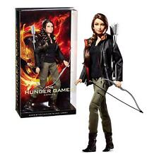 The Hunger Games  Katniss Barbie Collector Doll Black Label  IN  FACTORY TISSUE