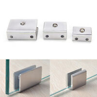 4pcs 6-12mm Stainless Steel Square Clamp Holder Clip For Glass Shelf Handrail RS