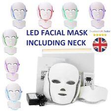 Luz LED Fotón Rejuvenecimiento De La Piel Rostro + Cuello Máscara Facial Tratamiento Arrugas UK