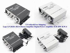 US Lepy LP-2020A Hi-Fi Stereo Amplifier Digital Power Amplifier 2CH 20W R.W.S