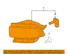 Chevrolet GM OEM 05-13 Corvette-Foglight Fog Driving Light 25942593