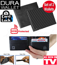 Dura Wallet RFID Blocking Protect Signal Security As Seen On TV Card Lock 2-PACK