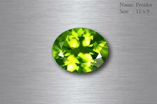 11x9 MM EXQUISITE BEST AAA GREEN PERIDOT 100% NATURAL UNHEATED RARE PAKISTAN !!