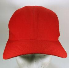 Vintage New Era DuPont Visor Pro Model Red Blank Snap back Hat Cap S-M USA