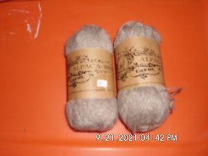 Alpaca-Brats Farm Yarn Fingering Weight  Lot of 2