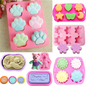 Silicone Soap Mold Ice Cube Cake Decor Mold Candy Chocolate Cookies Baking Mould