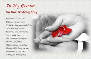 TO MY GROOM / HUSBAND on our wedding day (personalised gift) -3