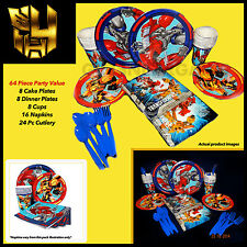 Hasbro Transformers Boys Birthday Party Supplies 64 Pc Table Setting for 8