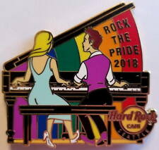 Hard Rock Cafe SEATTLE 2018 GAY PRIDE PIN Rock The Rainbow Piano - HRC #89902